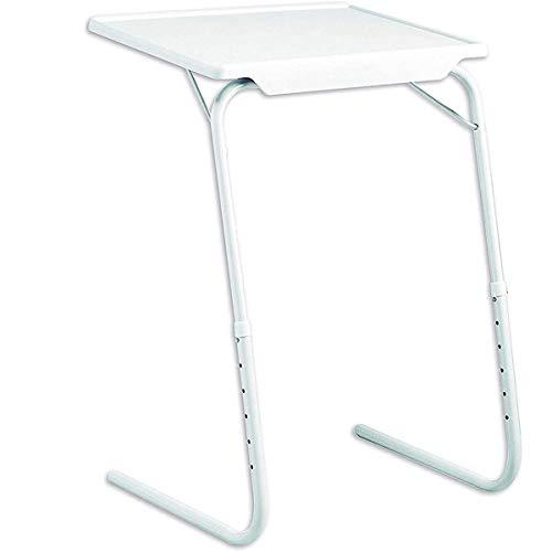 Klappbar Laptop Beistelltisch, Desktop Neigungsverstellbar Couch-Tisch, Höhenverstellbar 6 Höheneinstellungen Mit Getränkehalter,Serviertisch Halterung Für Tablet & Smartphone