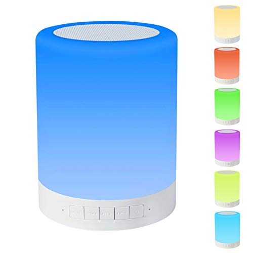Eterichor Touch Lamp, Bedside Lamp with Bluetooth Speaker, Night Light with Dimmable Warm White Light & Color Changing Lamp, Gifts for Women Kids Men