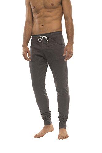 4-rth Men's Long Cuffed Perfection Yoga Pant (Medium, Charcoal)