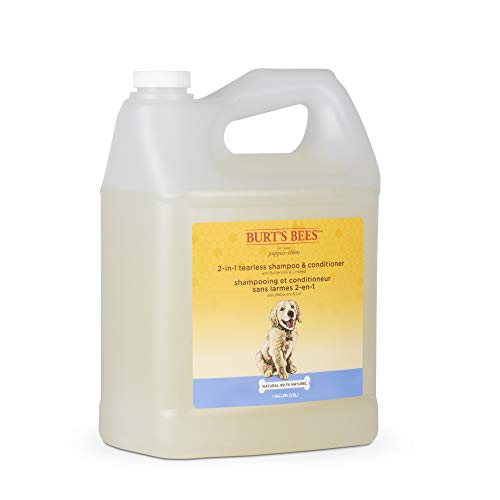 Burt's Bees for Puppies Tearless 2-in-1 Dog Shampoo   Dog Shampoo for Puppies Soothes and Softens Dog Fur   Natural Dog Shampoo for All Dogs Puppy Shampoo Gallon Shampoo