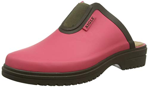 Aigle Damen Egoa Sabot Clogs, Pink (Pink Rasberry/Kaki 001), 37 EU