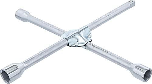 BGS 1459 | Llave de cruz para automóviles | para autos | cuadrado | 17 x 19 x 21 x 12,5 mm (1/2
