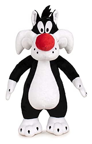 Looney Tunes Kuscheltiere, Gift Qualität, Bugs Bunny, Sylvester, Coyote, Taz, Daffy, Roadrunner, Tweety (33/36cm, Sylvester)