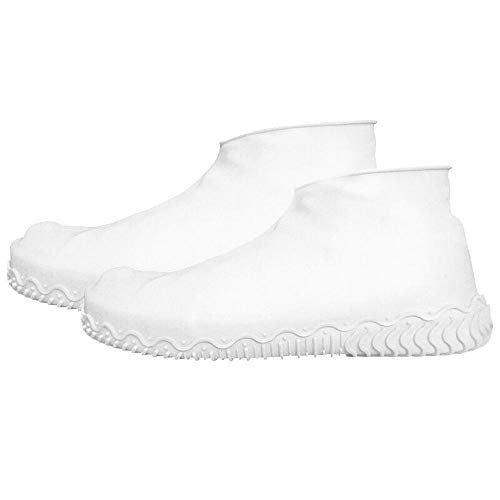 Raincoat Espesar silicona botas de lluvia transparente antideslizante a prueba de lluvia...