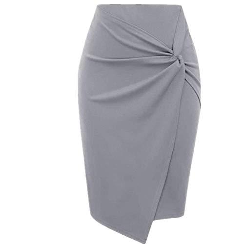 N\P Falda de mujer mini bodycon, falda de oficina para mujer, delgada, longitud a la rodilla, cintura alta, elástica, color sólido, faldas de lápiz sexy