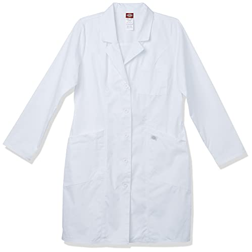 """Dickies Women's EDS Professional Whites 37"""" Lab Coat, Small"""