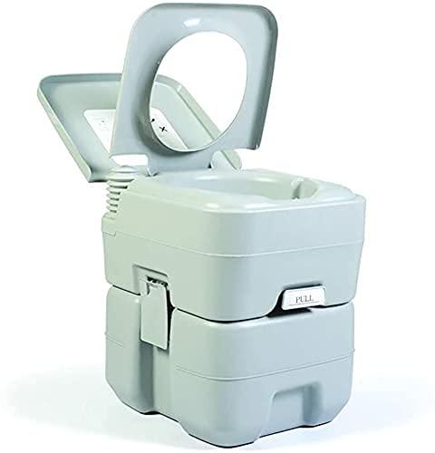 Sfeomi Toilette de Camping Portable 20 l 150 kg Poignée extérieure WC de Camping Toilettes de Camping Toilettes de Voyage Amovible pour Personnes âgées Enceintes Toilettes