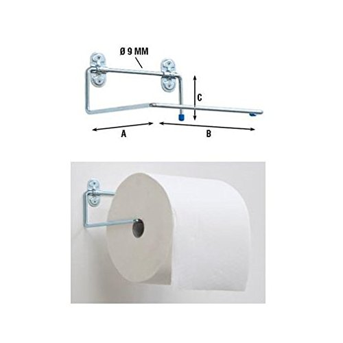 Portarotolo supporto staffa perete acciaio rotoloni carta a strappo asciugamani