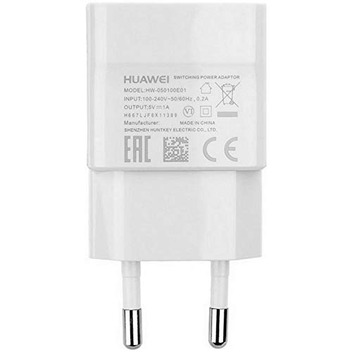 Huawei HW-050100E01W Cargador de Viaje + Cable Micro USB para Huawei P8, P8 Lite, P9 Lite (Bulk)