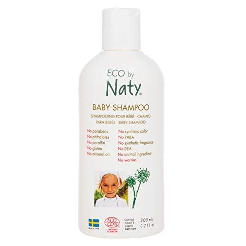 Eco by Naty, Bouteille de Shampoing écologique pour bébé, 200ml.