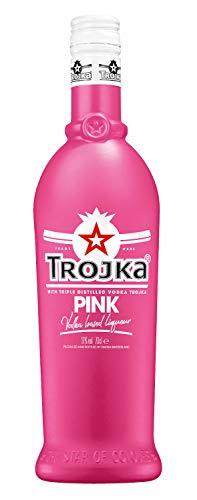 Trojka Vodka PINK, Vodka-Likör mit Erdbeer-Cranberry-Geschmack, Made in Switzerland, 17%, (1 x 0.7 l)