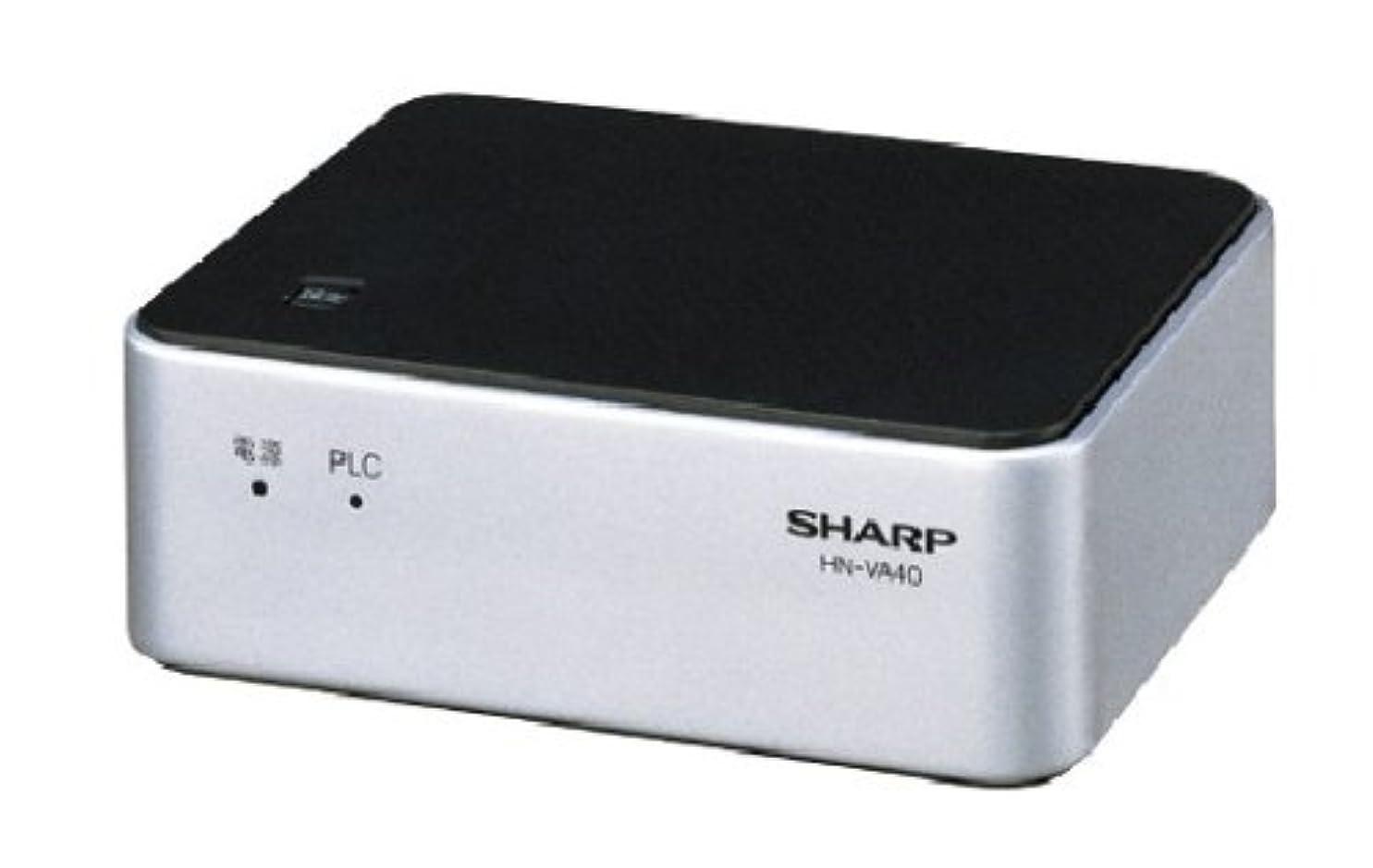 脇にランデブー祖母SHARP PLC(高速電力線通信)アダプター 増設用 LAN4ポートタイプ HN-VA40