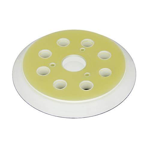 Plato de lija para lijadora excéntrica DeWALT - para Disco de Lijado de Velcro Ø 125 mm con 8-Agujeros para la extracción de Polvo - Blando, Medio o Duro - a su elección - DFS