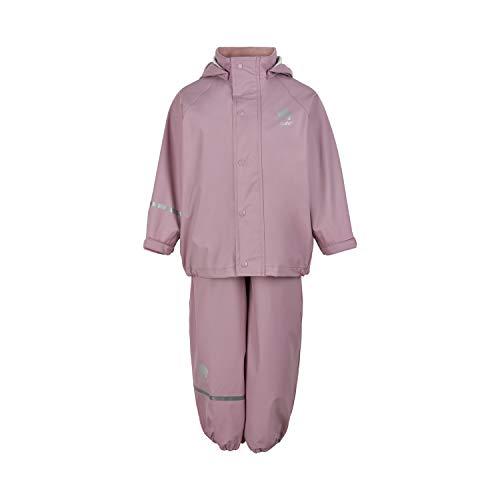 Celavi Unisex Basic Rainwear Set-solid PU Regenjacke, Mauve Shadow, 140