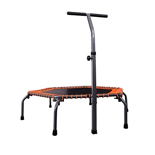 YY-JJ Trampoline With Armrests,Folding Gym Jumping Bed,Indoor Adult Children's Indoor Jumping Bed,for Indoor Garden Workout Cardio Exercise,fitness trampoline