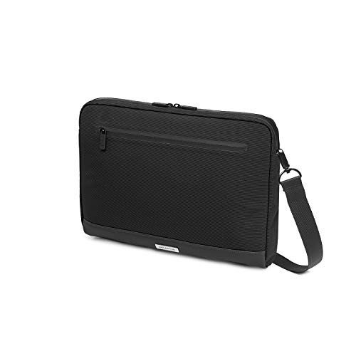 Moleskine - Metro Horizontale Gerätetasche, PC-Tasche für Laptop, Notebook, iPad und Tablet bis 13'', wasserdichte Kuriertasche, Größe 35 x 26 x 4 cm, Schwarz