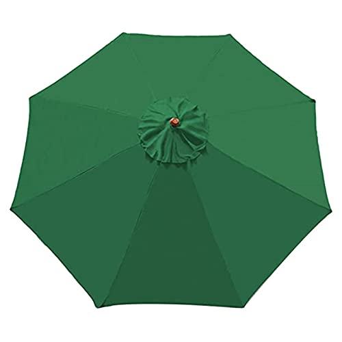 MOVKZACV Sonnenschirm Ersatzbezug, rund, Anti-Ultraviolett, wasserdicht, Sonnenschutz Bespannung für Marktschirm, Ampelschirm, Gartenschirm, Großschirm