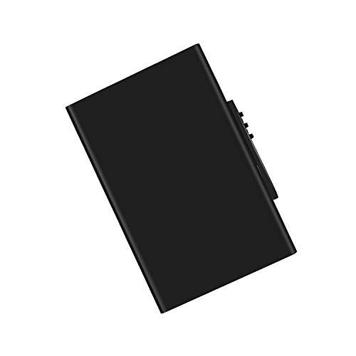 Kreditkartenetui mit RFID und NFC Schutz, Welltop RFID Schutzhülle Kreditkarten NFC Blocker Kreditkartenhülle aus Aluminium für Kreditkarten, Bankkarte, EC-Karte (Schwarz)