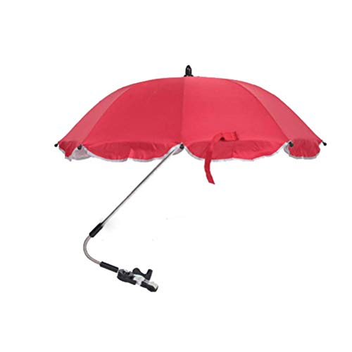 Universal Outdoor Baby Poussette Chaise Parapluie Pare-Soleil Auvent Anti-Umbrella Canopy Fit for Stroller Carriage Seat, Blue