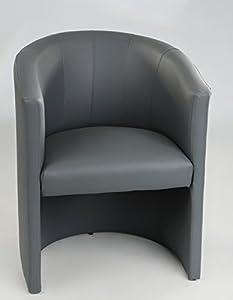 H&S Design Cocktailsessel Sessel Clubsessel Loungesessel Club Möbel Bürosessel Praxismöbel grau Neu