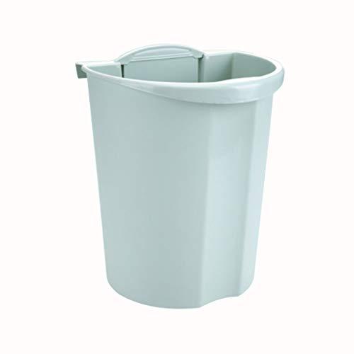 Bote de basura de cocina Caja de almacenamiento de cocina, puerta de gabinete, contenedor de basura en la pared Caja de almacenamiento de escritorio creativa (8 litros / 2.1 galones) Bote de basura