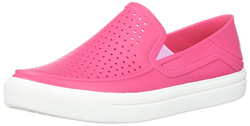 Crocs Unisex-Kinder Citilane Roka Slip-On Turnschuh, Paradise Pink/Weiß, 34 EU