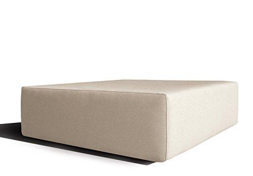 Módulo Puff 103x103 cm de modelo de sofá exterior 'Metric' impermeable medida Large (103cm x 103cm)