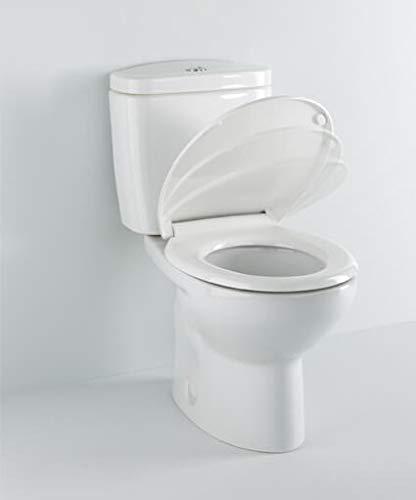 Tapa y asiento de inodoro con caida amortiguada - Compatible con Victoria Roca