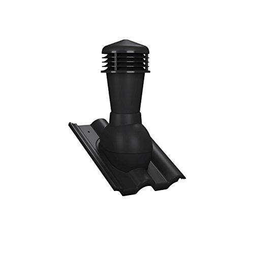 Entlüfterstein 110mm schwarz - RAL 9005