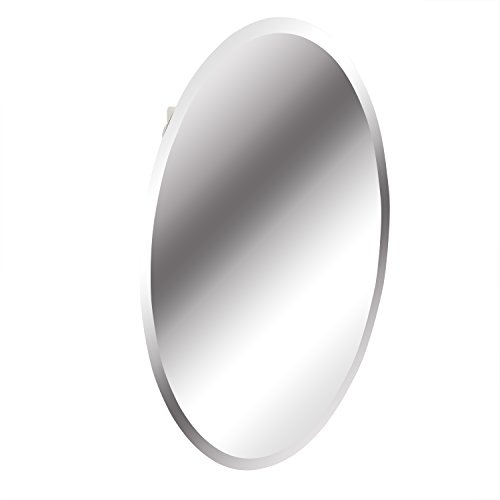 American Pride 97VM131BOR – Recessed Frameless Oval Beveled Polished Edge Mirror Medicine Cabinet...