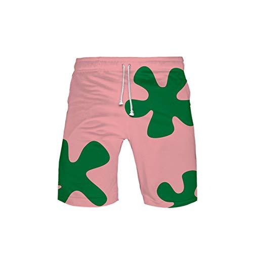 3D gedruckte Anime Patrick Star Boardshorts Kinder Sommer Quick Dry Beach Badeshorts Männer Harajuku Short Pants 3d-st17 110
