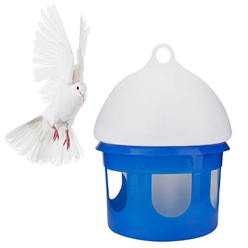 Petyoung Automatischer Vogelspender-Feeder-Wasserspender mit Großem Fassungsvermögen Und Griff für Käfigzubehör für Papiertaubenpapageien