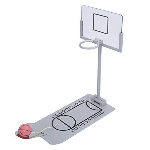 Mini baloncesto de escritorio plegable y divertido con aro de metal Sistema de baloncesto portátil para tablero adecuado para niños adultos Oficina Hogar Juegos de interior Juguetes relajantes