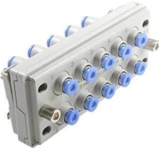 SMC KM12-09-36-6 PBT Push-To-Connect Tubing Manifold 6 Outlets-5//16 Tube OD Black Pack of 5 2 Inlets-3//8 NPT Female
