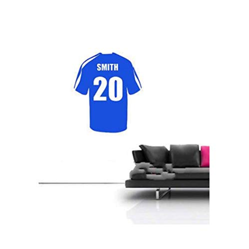 Olivialulu op maat gemaakte gepersonaliseerde voetbal voetbal shirt Vinyl muur Sticker Home Decor Decoratie-U kiest kleur, naam en nummer aanpasbaar