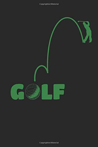 Golf notebook: GOLF Journal, 6x9 inch, 108 pages, light dot- ruled paper with golfball icon on each page, cover: tee