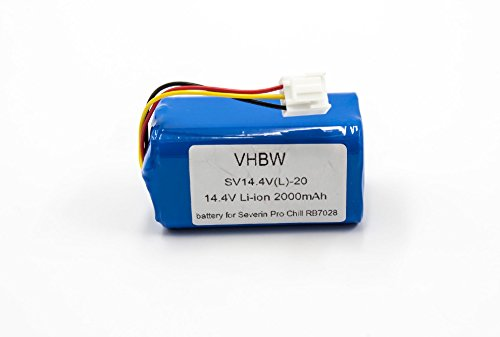 vhbw Li-Ion Akku 2000mAh (14.4V) passend für Home Cleaner Heimroboter Severin Chill RB-7028, RB7028