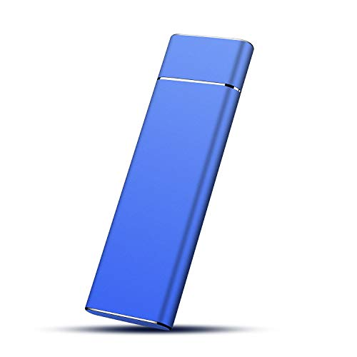 Externe Festplatte 2tb Tragbare USB3.1 Type C Externe Festplatte für PC, Mac, Desktop, Laptop, MacBook, Chromebook, Xbox One, Xbox 360.(2TB,Blau)
