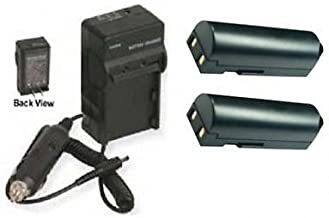 TWO 2 D-L172 D-LI72 Batteries + Charger Kit for Pentax Optio Z10 Digital Camera