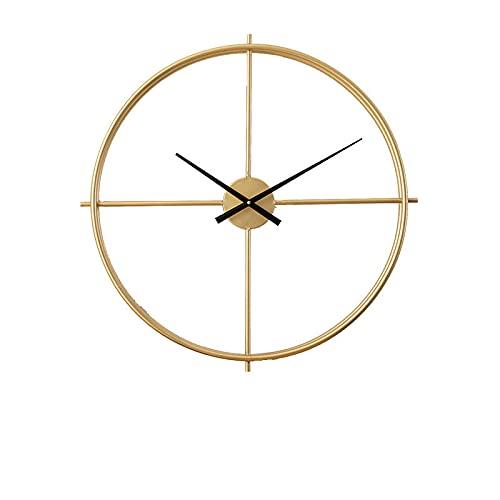 QIANJINGCQ Relojes de decoración del hogar Retro más vendidos, Reloj de Pared Creativo nórdico transfronterizo de Hierro Forjado Simple silencioso para Sala de Estar