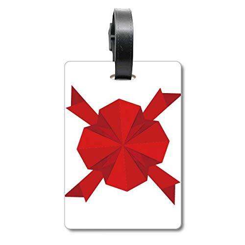 Etiqueta de identificación para Maleta con Texto en inglés Origami Cruise Suitcase, Color Rojo