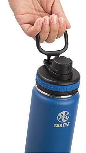 【タケヤ公式】 タケヤフラスク オリジナルライン T6 水筒 ステンレス ボトル 直飲み 保冷 (ディープブルー, 400ml) TAKEYA