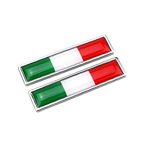 Car Metal Chrome Decals Car Stickers 1Pair National Flag Metal Stickers Italy Flag Emblem Stickers Multi Usage Bumper Flag Chrome Decals Car Accessories