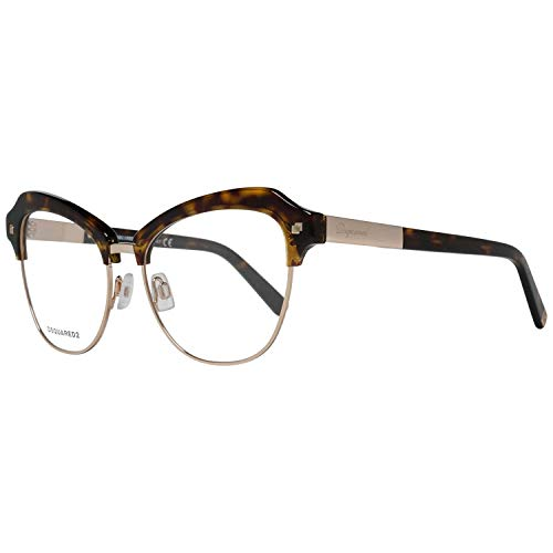 DSQUARED2 D Squared Frame DQ5152 052-53-16-140 Montature, Marrone (Brown), 53 Donna