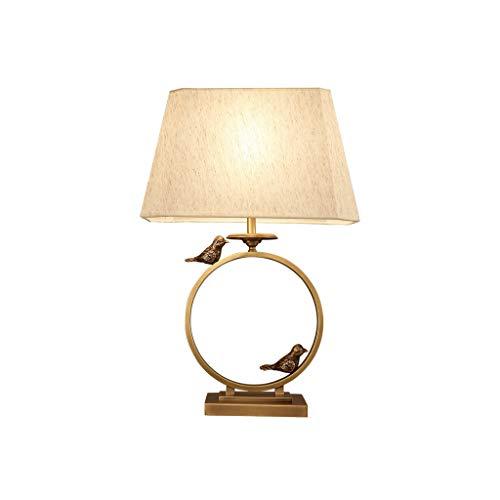 Lampes QY de Table Nouveau Chinois Tous Cuivre de Table Moderne Salon Chambre de Chevet D'étude Zen Simple de Chevet
