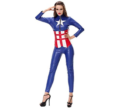GGT Boutique Amerikaanse droom Superhero Fancy jurk partij Halloween Cosplay kostuum, M, Multi kleuren