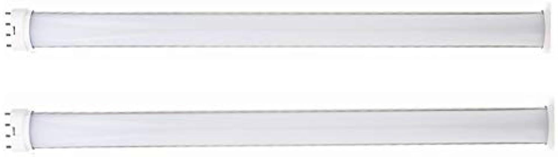 Tanxinxing AC85-265v 2-Pack Warmwei Cool Weiß 25W LED 2G11 Leuchtrhre, 21,3 Zoll 2G11 Horizontal Plug LED PL-Lampe für 45W Leuchtstofflampen-Ersatzlampe (Entfernen oder Bypass-Vorschaltgert)