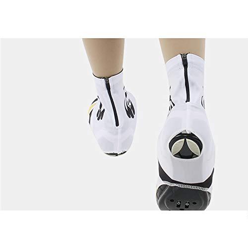 Laishutin Cubierta de la Zapata Ciclismo Masculino Y Prueba de Viento de Zapatos Cubierta Impermeable Cubierta del Zapato al Aire Libre Montar a Caballo Equipo Panda Viajar Ciclismo Ruta Camping S