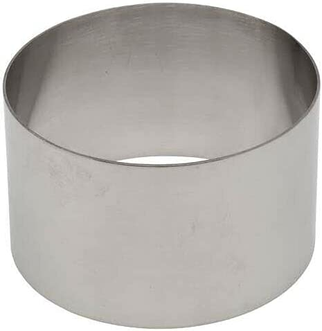 Stainless Steel Max 74% OFF Round Tart Ring by 2.1-In Mold Diameter low-pricing 3.5-Inch