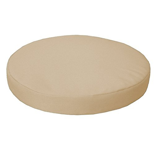 Gardenista Garden Round Bistro Chair Seat Pad | Cushion Seating Patio Furniture Outdoor | Secure Tie Strings for None Slip | Water Resistant | Comfortable Durable and Lightweight (Stone)
